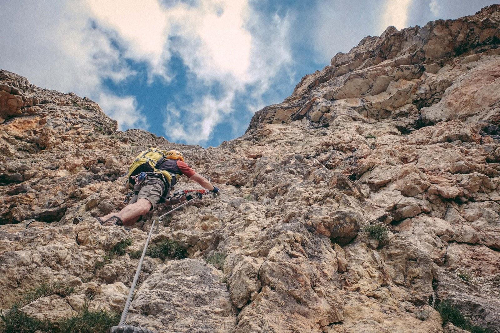 Klettersteig Achensee : Am klettersteig durch das rofangebirge achensee kaffeeersatz